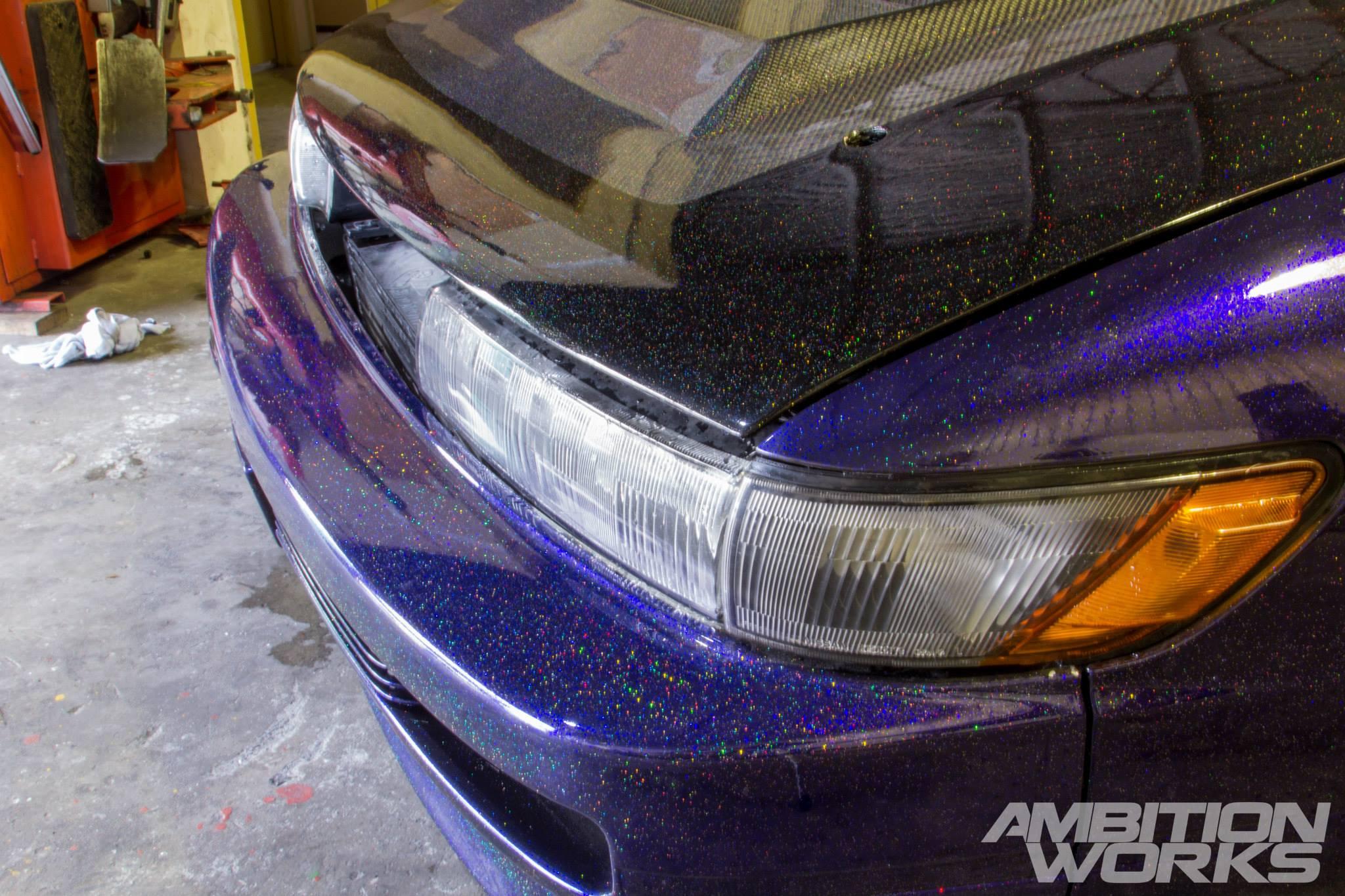Purple Car Paint Job